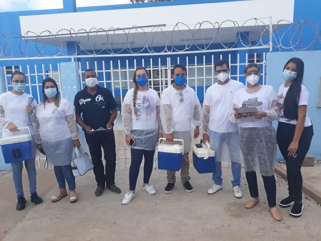Ação da Saúde imuniza 110 idosos em Mirabela em dois dias